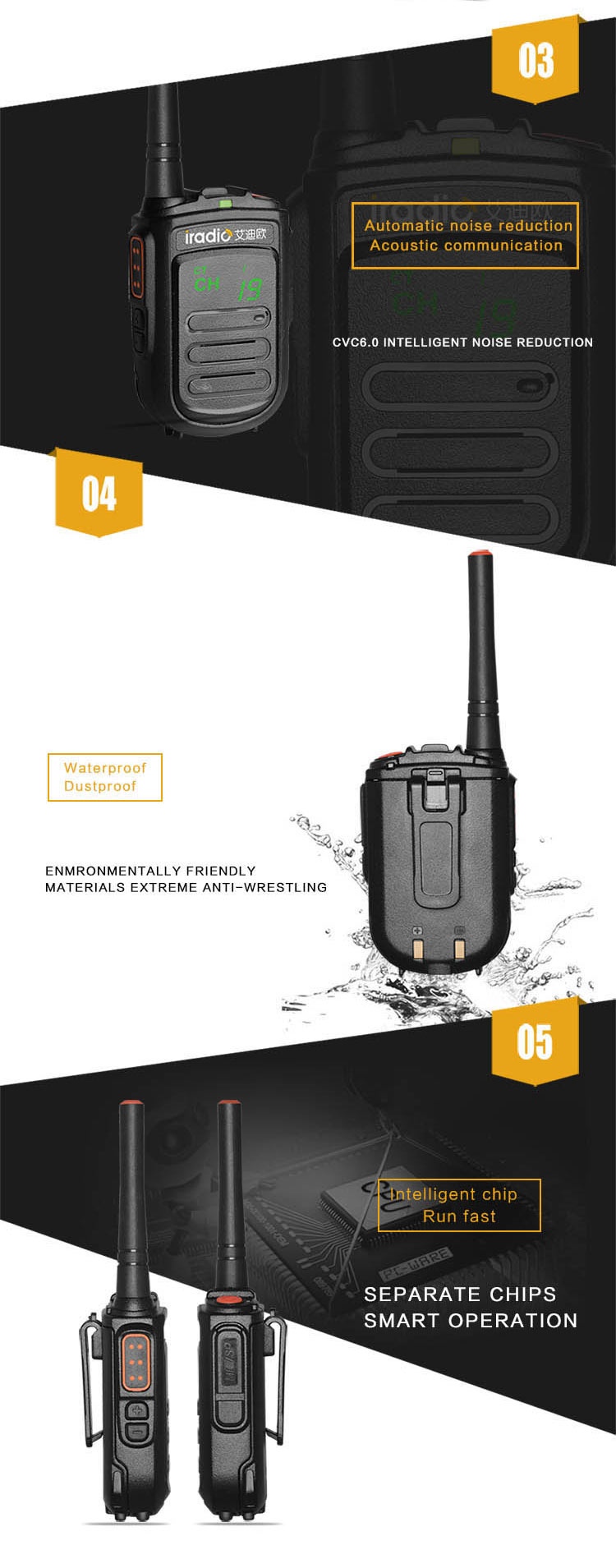 commercial uhf mini portable radio